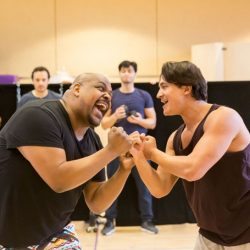 Aladdin breaks in London - rehearsal photos